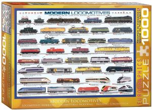 Modern Locomotives 1000 piece jigsaw puzzle   680mm x 490mm    (pz)